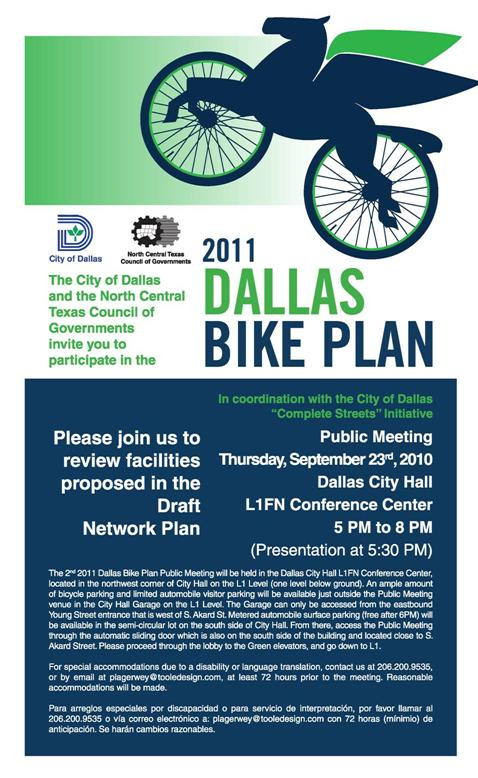 An update on the progress of the bike plan is slated for February 6th