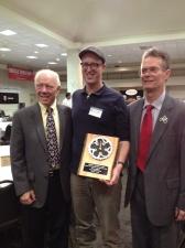 Jason Roberts on receiving Bike Texas award behalf BFOC