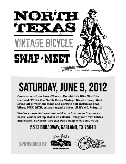 North Texas Vintage Bicycle Swap Meet, Saturday, June 9th