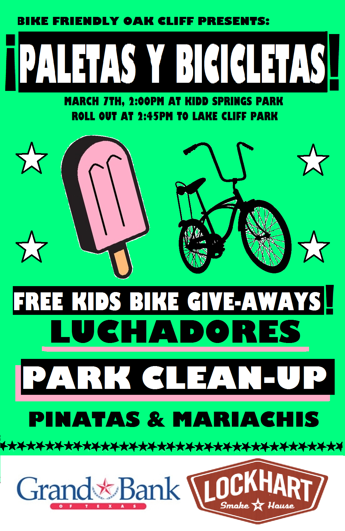 Spring Break Event: ¡Paletas y Bicicletas!