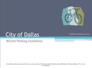 City of Dallas Bike Parking Guide