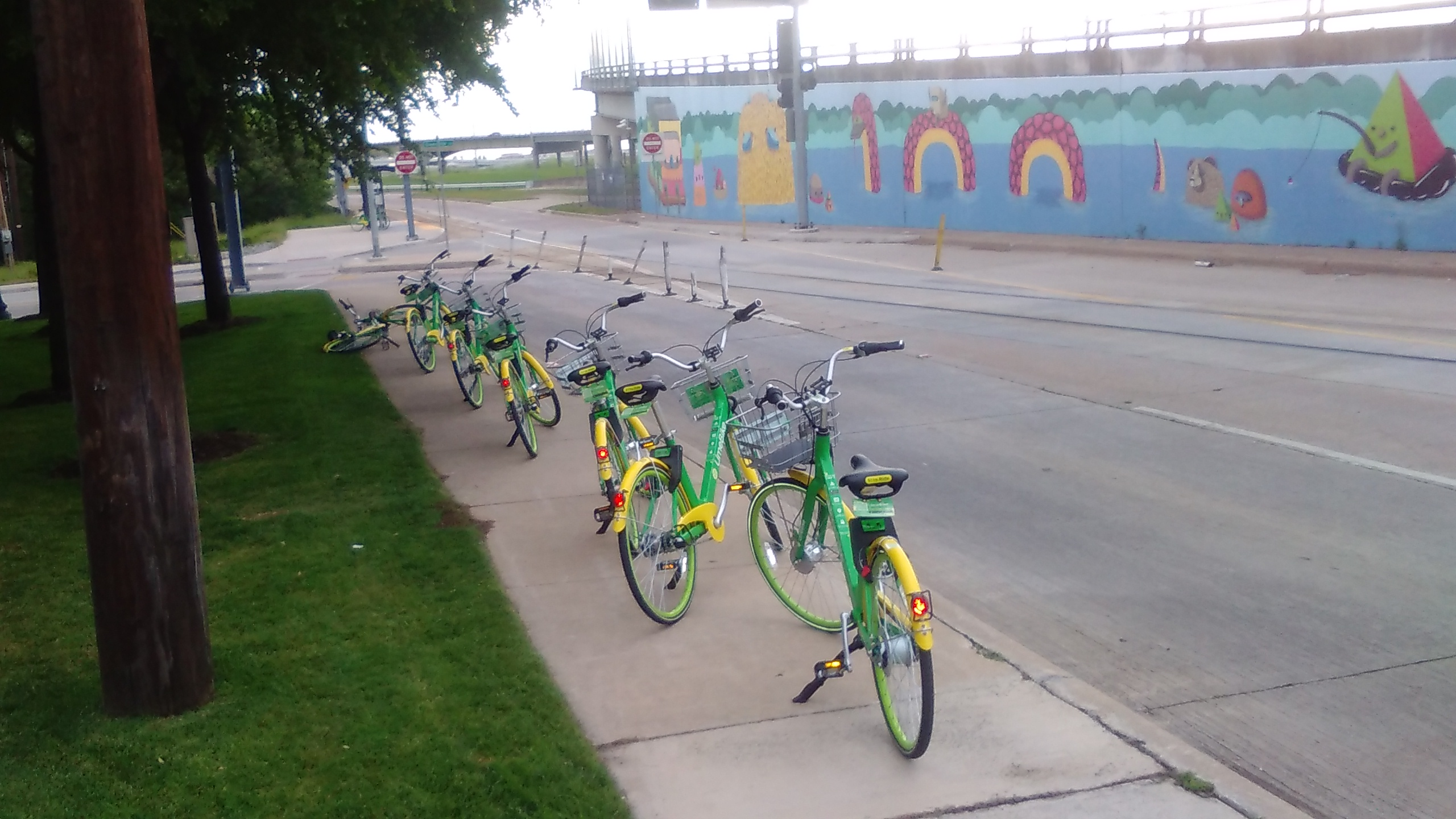 7 Share Bikes Blocking the Sidewalk